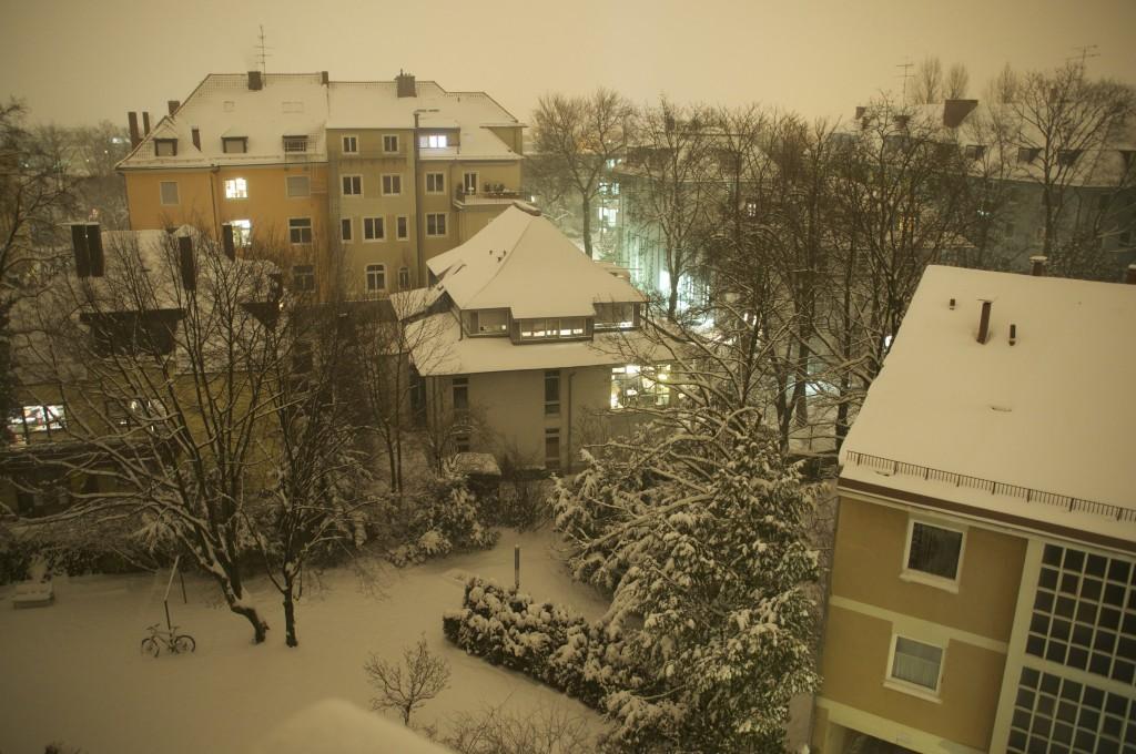 Winter im Innenhof