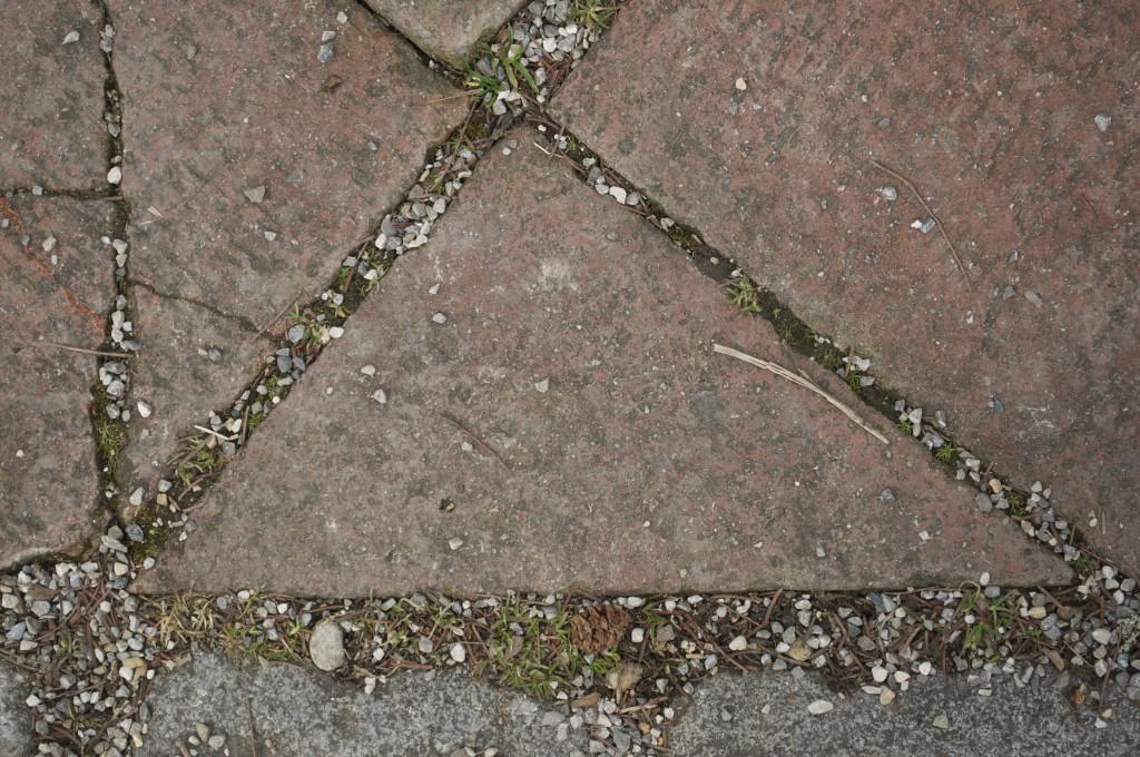 Dreieck Gehweg