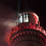 Leuchtturm in Flammen